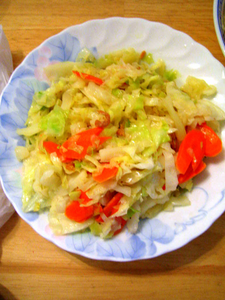 20080920-Stir fry cabbage